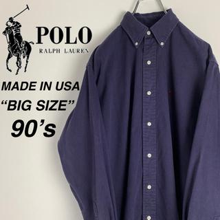 ラルフローレン(Ralph Lauren)の【USA製 90s】ラルフローレン ワンポイントロゴ  ヘビーツイル BDシャツ(シャツ)
