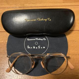 テンダーロイン(TENDERLOIN)の人気品! ATLAST 白山眼鏡 サングラス メガネ クリア 伊達 ベージュ(サングラス/メガネ)