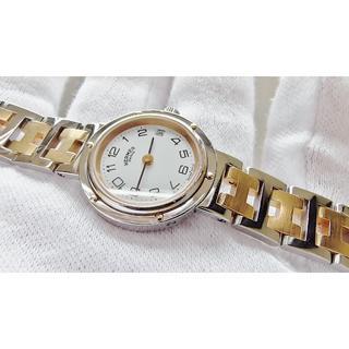 エルメス(Hermes)のHERMES エルメス クリッパー 女性用 クオーツ腕時計 電池新品 B2121(腕時計)