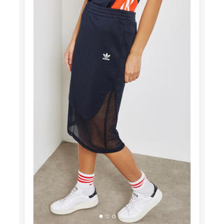 adidas - 【Sサイズ】新品未使用タグ付き adidas タイトスカート ネイビー