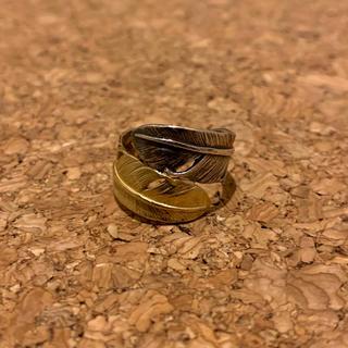 ゴローズ(goro's)のゴローズ コンビリング K18&SV ダブルフェザーリング(リング(指輪))