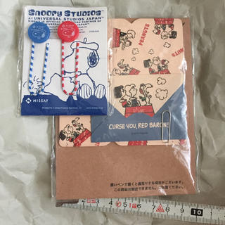 スヌーピー(SNOOPY)のスヌーピー メッセージカード クリップ セット(ノート/メモ帳/ふせん)