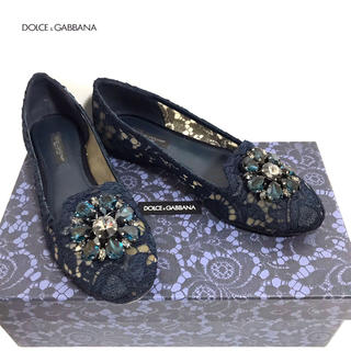 DOLCE&GABBANA - 【正規品】美品✨DOLCE&GABBANA レース 靴