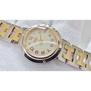 エルメス(Hermes)のHERMES エルメス クリッパー 女性用 クオーツ腕時計 電池新品 B2123(腕時計)