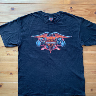 ハーレーダビッドソン(Harley Davidson)のハーレーTシャツLサイズ(Tシャツ/カットソー(半袖/袖なし))