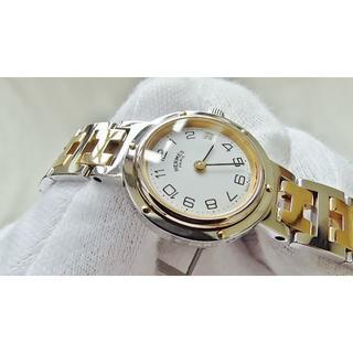 エルメス(Hermes)のHERMES エルメス クリッパー 女性用 クオーツ腕時計 電池新品 B2124(腕時計)