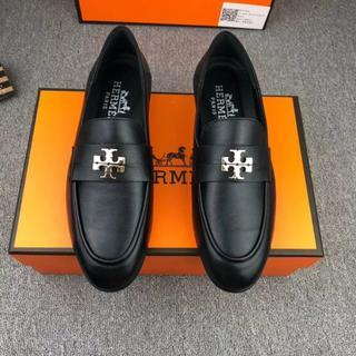 エルメス(Hermes)の人気品 Hermes ビジネス 靴 ブラック 41(ドレス/ビジネス)