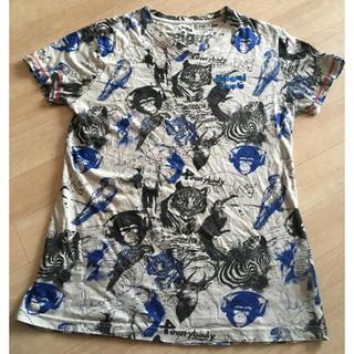 DESIGUAL - Desigual アニマル メンズTシャツ