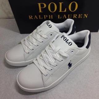POLO RALPH LAUREN - ポロ ラルフローレン レザータイプ(合皮)新品未使用品 22.5㎝
