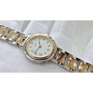 エルメス(Hermes)のHERMES エルメス クリッパー 女性用 クオーツ腕時計 電池新品 B2132(腕時計)