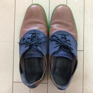 コールハーン(Cole Haan)のCole Haan 革茶色×スェード紺色(ドレス/ビジネス)