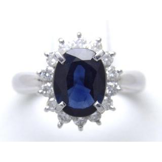 プラチナ サファイア ダイヤモンド リング(リング(指輪))