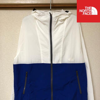 THE NORTH FACE - 【極美品】THE NORTH FACE ジャケット コンパクト 白×青 M