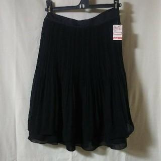 しまむら - 黒 シフォン プリーツスカート