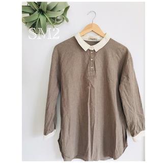 サマンサモスモス(SM2)のサマンサモスモスSM2 細ストライクチュニックシャツ(シャツ/ブラウス(長袖/七分))