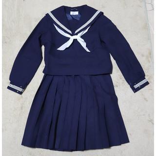 女子制服 冬用セーラー服+冬用スカート(クリーニング済)6959
