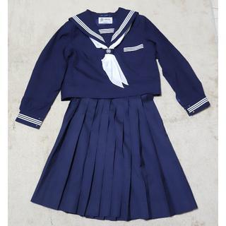 女子制服 冬用セーラー服+冬用スカート(クリーニング済)6961