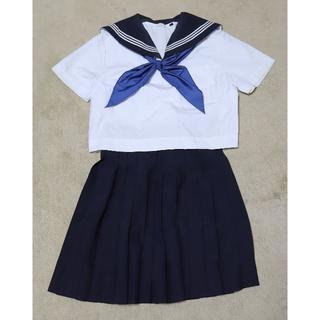 女子制服 夏用セーラー服+夏用スカート(クリーニング済)6867