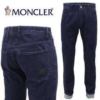 モンクレール(MONCLER)の【1】 MONCLER『希少 レア』インディゴ ロゴワッペン デニム 52(デニム/ジーンズ)