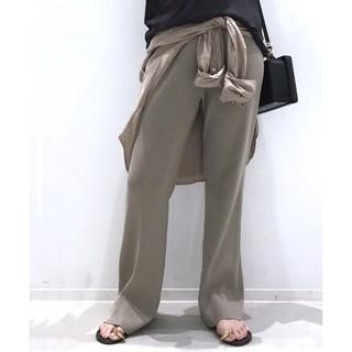 L'Appartement DEUXIEME CLASSE - アパルトモン☆Rib Knit パンツ 新品 ベージュ34