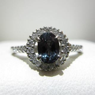 天然カラーチェンジガーネット0.58ct プラチナ900製 指輪(リング(指輪))