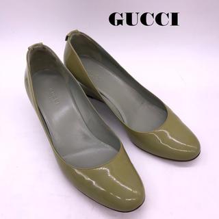 グッチ(Gucci)のGUCCI エナメルパンプス(ハイヒール/パンプス)