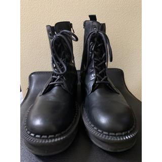 ヨウジヤマモト(Yohji Yamamoto)の 18AW ヨウジオム ホースレザーサイドファスナーブーツ 【920】(ブーツ)