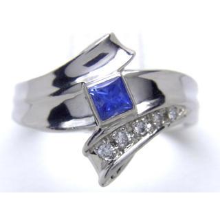 プラチナ タンザナイト ダイヤモンド リング(リング(指輪))