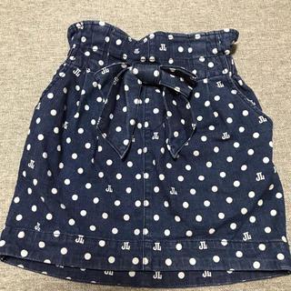 ジェニィ(JENNI)のJENNI ドット デニムスカート 140cm ❁美品(スカート)