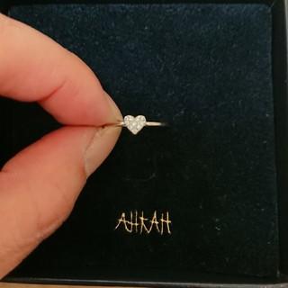 アーカー(AHKAH)のアーカー AHKAH ダイヤモンドパヴェ ピンキーリング(リング(指輪))