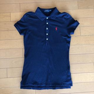 ★ラルフローレン ポロシャツ レディース ネイビー S(Mサイズ相当)