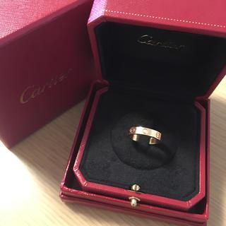 カルティエ(Cartier)のミニラブリング ダイヤモンド 1P  K18PG (リング(指輪))