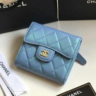 promo code 5ace1 c1422 CHANEL - シャネル 折財布❤️フューシャピンク格安の通販|ラクマ