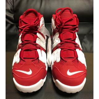 Supreme - 新品 SUPREME × NIKE MORE UP TEMPO RED 赤 26