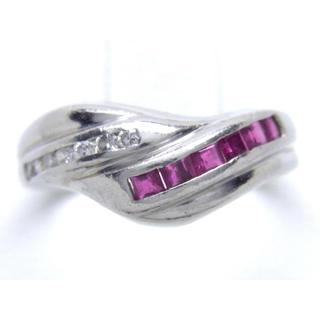 プラチナ ルビー ダイヤモンド リング(リング(指輪))