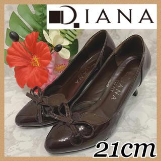 ダイアナ(DIANA)の美品 DIANA ダイアナ  パンプス 21cm ボルドー(ハイヒール/パンプス)