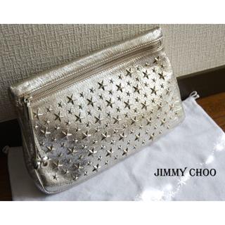 JIMMY CHOO - 未使用☆ジミーチュウ…スタースタッズ メタリックシルバー クラッチバッグ♡ポーチ