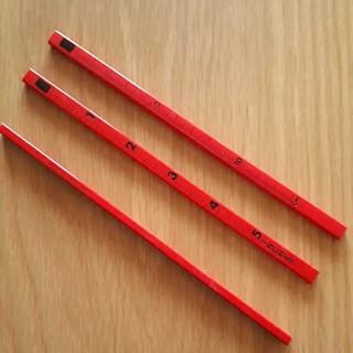 【新品未使用】キリン鉛筆SCALE PENCILスケールペンシル(10本)赤(鉛筆)