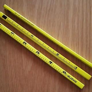 【新品未使用】キリン鉛筆 スケールペンシル(10本)蛍光イエロー(鉛筆)