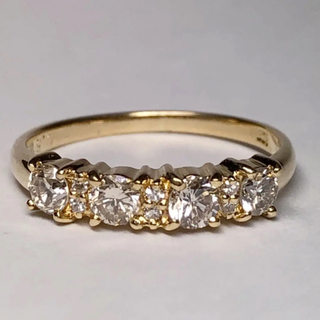 K18 ダイヤモンド リング【10号】(リング(指輪))