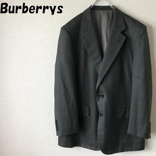 バーバリー(BURBERRY)の【人気】バーバリー ストライプジャケット グレー系 サイズ170 三陽商会正規品(テーラードジャケット)