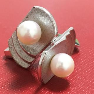 ミキモト(MIKIMOTO)のミキモト カフス 天然 パール 真珠 Mikimoto 御木本 シルバー(カフリンクス)