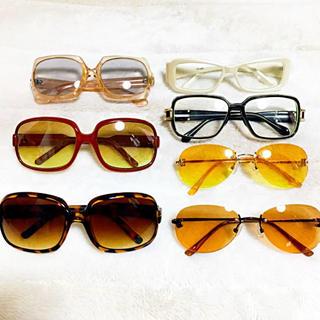 ユニクロ(UNIQLO)のサングラス 伊達メガネ 7点 まとめ売り(サングラス/メガネ)