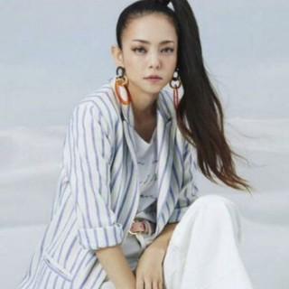 エイチアンドエム(H&M)の安室奈美恵×H&Mコラボ⭐ストライプジャケット34(テーラードジャケット)