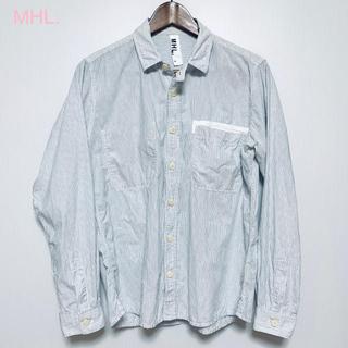 マーガレットハウエル(MARGARET HOWELL)のMHL.(エムエイチエル)◆ワークシャツ◆ホワイト◆M(シャツ)