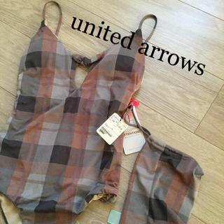 ユナイテッドアローズ(UNITED ARROWS)のタグ付き 未使用 アローズ Lepidos 水着 ワンピース型 チェック 大人(水着)