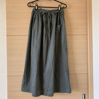 ハグオーワー(Hug O War)のハグオーワー  ドット ロングスカート 日本製 自由が丘(ロングスカート)