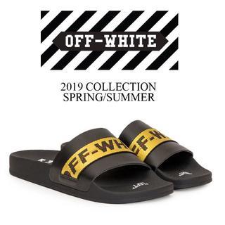 オフホワイト(OFF-WHITE)の【3】 OFF-WHITE 19ss サンダル ブラック size 40(サンダル)