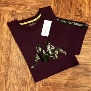 カッパ(Kappa)の新品☆ カッパ 袖 テープ ロゴ Tシャツ 半袖 パープル ロゴ kappa(Tシャツ/カットソー(半袖/袖なし))