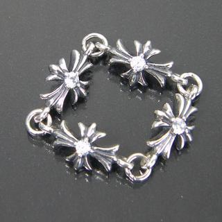 シルバー925製 Stone クロス リング SILVER ダイヤモンドCz(リング(指輪))